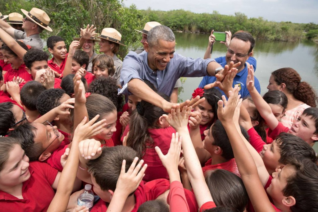 Obama & Dante Fascell Anhinga Trail April 2015